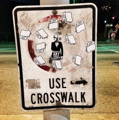 Stikki Peaches - Crosswalk, Los Angeles