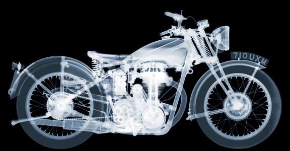 Nick Veasey - Matchless Motorbike AP