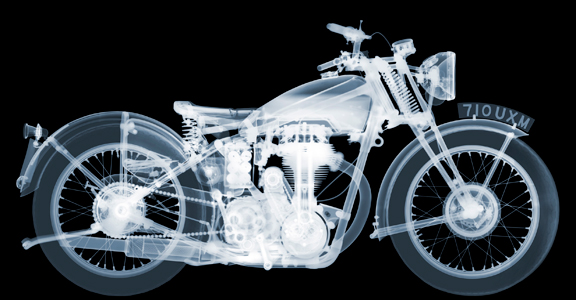 Nick Veasey - Matchless Motorbike AP