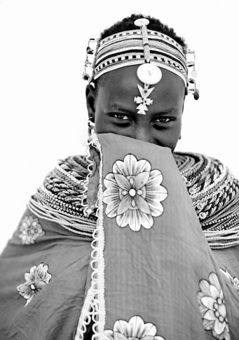 Lyle Owerko - Shy Samburu girl