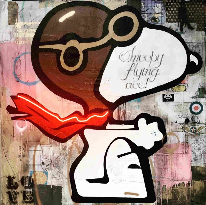 Rock Therrien - Snoopy flying ace!