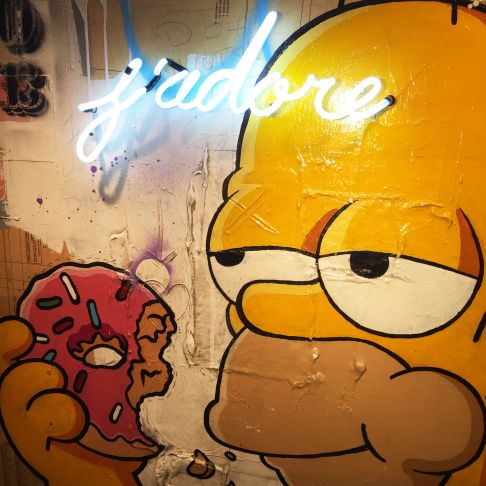 Rock Therrien - I Love Donuts! (détail)
